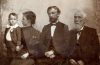 Thomas Hines with daughter, father and grandson
