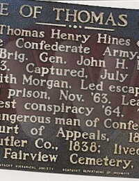 Thomas Hines - plaque at his home