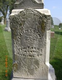 John Cline - grave marker