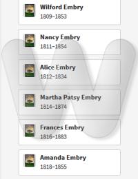 Frances Embry Family