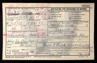 George Buck - military record