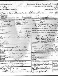 Infant Forsythe - Death Certificate
