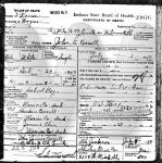 John Cossell - death certificate