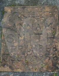 Anna Ashmore Smith - grave marker