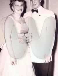 Richard Lee Johnson with Mae Hansen - 1953