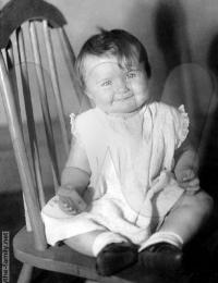 Bernice as a baby