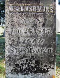 William L. Ashmore - grave marker