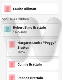 Sharon Brattain Forsythe - family