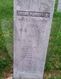 Irene Forsythe - grave marker