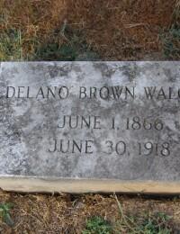 Delano Brown Walcutt - grave marker