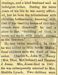 David Jones - obituary (husband to Matilda Cline)