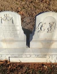Isaac M. Gidcumb - grave marker reverse side