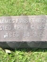 James Forsythe - Grave Marker