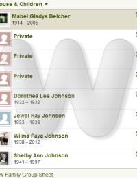 Veachel & Mabel Johnson - family