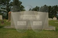 Grafton & Adelia Forsythe - grave marker