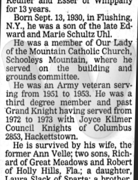 Edward Uhl, Jr. Obituary