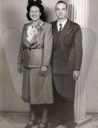 Merle Cossell & Levi Pillers - wedding portrait