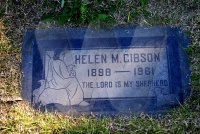 Mary Helen Gibson - (grave marker)
