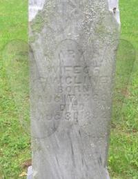Mary E. Taylor-Cline - grave marker