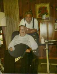 Rev. Harold B. Head, (seated), with his cousin - May 2001