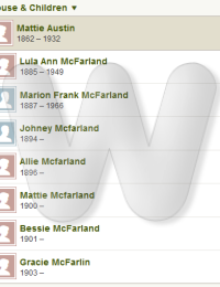 George & Mattie McFarland - Family