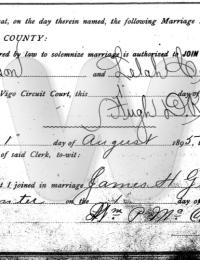 Gibson - Carpenter Marriage License