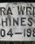 Clara Hines - Grave Marker