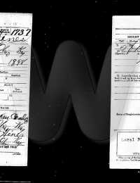Clyde Hines - Draft Card