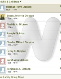 Thomas & Elizabeth Forsythe Dickson Family