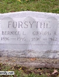 Gifford A. and wife headstone