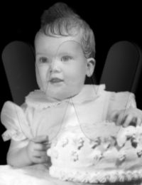 Donna as a baby
