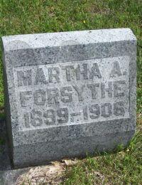Martha A. Forsythe - grave marker