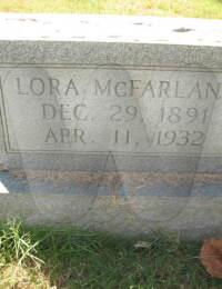 Lora Hines McFarland - grave marker