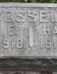 John & Hallie Cossell - grave marker (children)