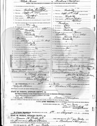 Clyde & Barbara Hines - marriage license