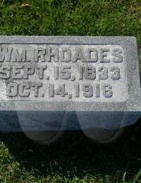 William Franklin Rhoads - grave marker