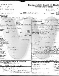 Edward Catt - death certificate