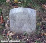 Mary Jane Forsythe grave marker