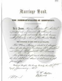 Fielder & Elizabeth (Hines) Acton - marriage certificate