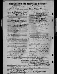 Merle Rice & Elsie Forsythe Marriage License - 1950