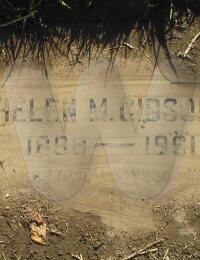 Helen M. Gibson - grave marker #2