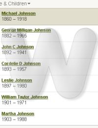 Michael & Orlena Phelps Johnson Family