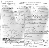Hallie Frances Cossell - death certificate