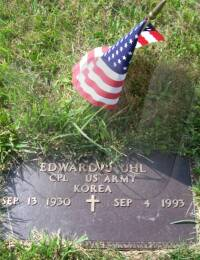 Edward J. Uhl - grave marker