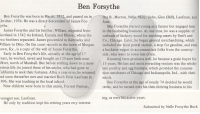 Ben Forsythe Bio: Submitted by Nelle