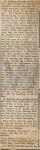 Church Record of Goodman Forsythe