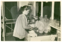 Mom doing dishes