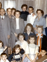 Grandma with a lot of family around