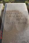 Warren Hines Grave Marker