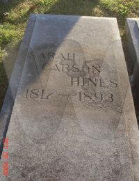 Sarah Hines Grave Marker